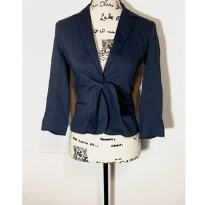 Theory Blazer Jacket Tie Front Cropped